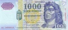 Венгрия: 1000 форинтов 1998 г.