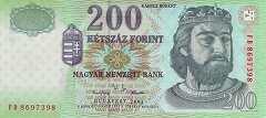 Венгрия: 200 форинтов 2001 г.
