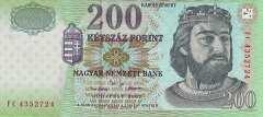 Венгрия: 200 форинтов 2002 г.