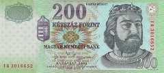 Венгрия: 200 форинтов 2003 г.