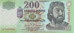 Венгрия: 200 форинтов 2004 г.