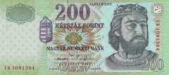 Венгрия: 200 форинтов 2005 г.