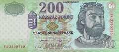 Венгрия: 200 форинтов 2006 г.