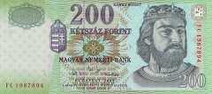 Венгрия: 200 форинтов 2007 г.