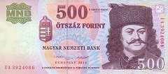 Венгрия: 500 форинтов 2001-13 г.