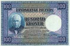 Исландия: 100 крон 1928 (1948) г.