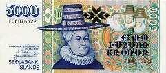 Исландия: 5000 крон 2001 г.