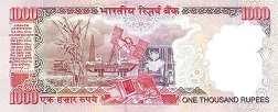 Индия: 1000 рупий (2000-06 г.)