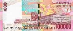 Индонезия: 100000 рупий 2004-13 г.
