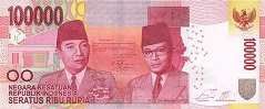 Индонезия: 100000 рупий 2014-16 г.