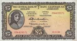 Ирландия: 5 фунтов 1961-76 г.