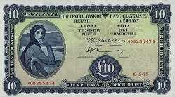Ирландия: 10 фунтов 1961-76 г.