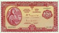Ирландия: 20 фунтов 1961-76 г.