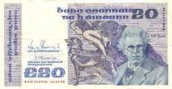 Ирландия: 20 фунтов 1980-92 г.