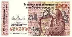 Ирландия: 50 фунтов 1982-91 г.