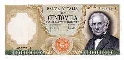 Италия: 100000 лир 1967-74 г.