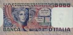 Италия: 50000 лир 1976-84 г.