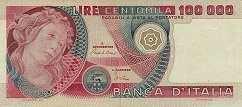 Италия: 100000 лир 1978-82 г.