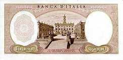 Италия: 10000 лир 1962-73 г.