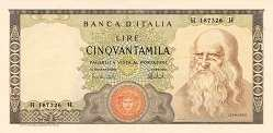 Италия: 50000 лир 1967-74 г.