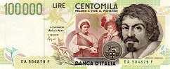 Италия: 100000 лир 1994 г.