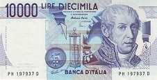 Италия: 10000 лир 1984 г.