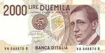 Италия: 2000 лир 1990 г.