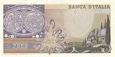 Италия: 2000 лир 1973-83 г.