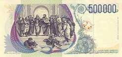 Италия: 500000 лир 1997 г.