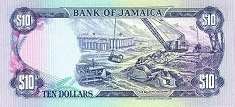 Ямайка: 10 долларов 1985-94 г.