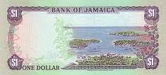 Ямайка: 1 доллар 1985-90 г.