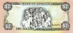 Ямайка: 2 доллара 1985-93 г.