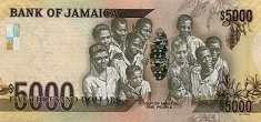 Ямайка: 5000 долларов (юбилейная) 2012 г.