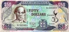 Ямайка: 50 долларов (юбилейная) 2012 г.
