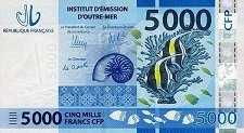 Французские Тихоокеанские Территории: 5000 франков (2014 г.)