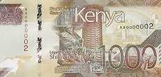 Кения: 1000 шиллингов 2019 г.