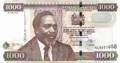 Кения: 1000 шиллингов 2005-10 г.