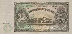 Латвия: 20 латов 1935 г.