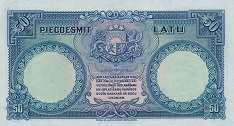 Латвия: 50 латов 1934 г.