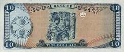 Либерия: 10 долларов 2003-11 г.