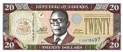 Либерия: 20 долларов 2003-11 г.