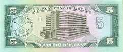 Либерия: 5 долларов 1989 г.