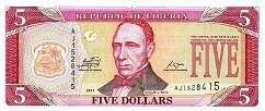 Либерия: 5 долларов 2003-11 г.