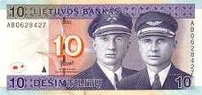 Литва: 10 литов 2001 г.