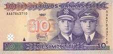 Литва: 10 литов 1997 г.