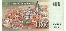Литва: 100 литов 2000 г.
