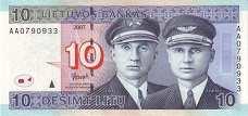 Литва: 10 литов 2007 г.