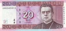 Литва: 20 литов 2007 г.