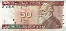 Литва: 50 литов 2003 г.