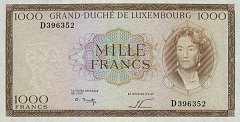 Люксембург: 1000 франков (1963 г.)